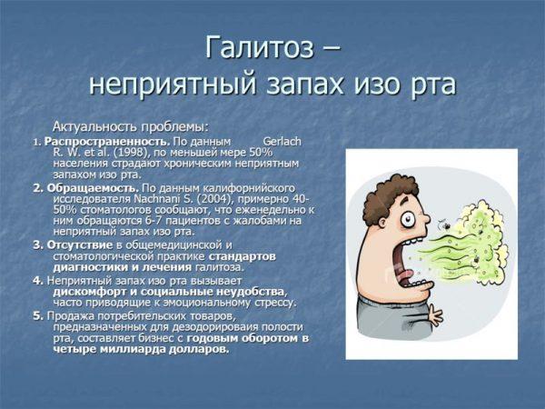 хронический холецистит и запах изо рта