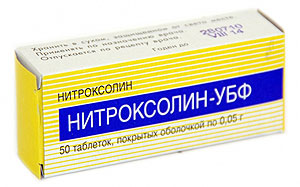 как принимать нитроксолин в таблетках при цистите у женщин